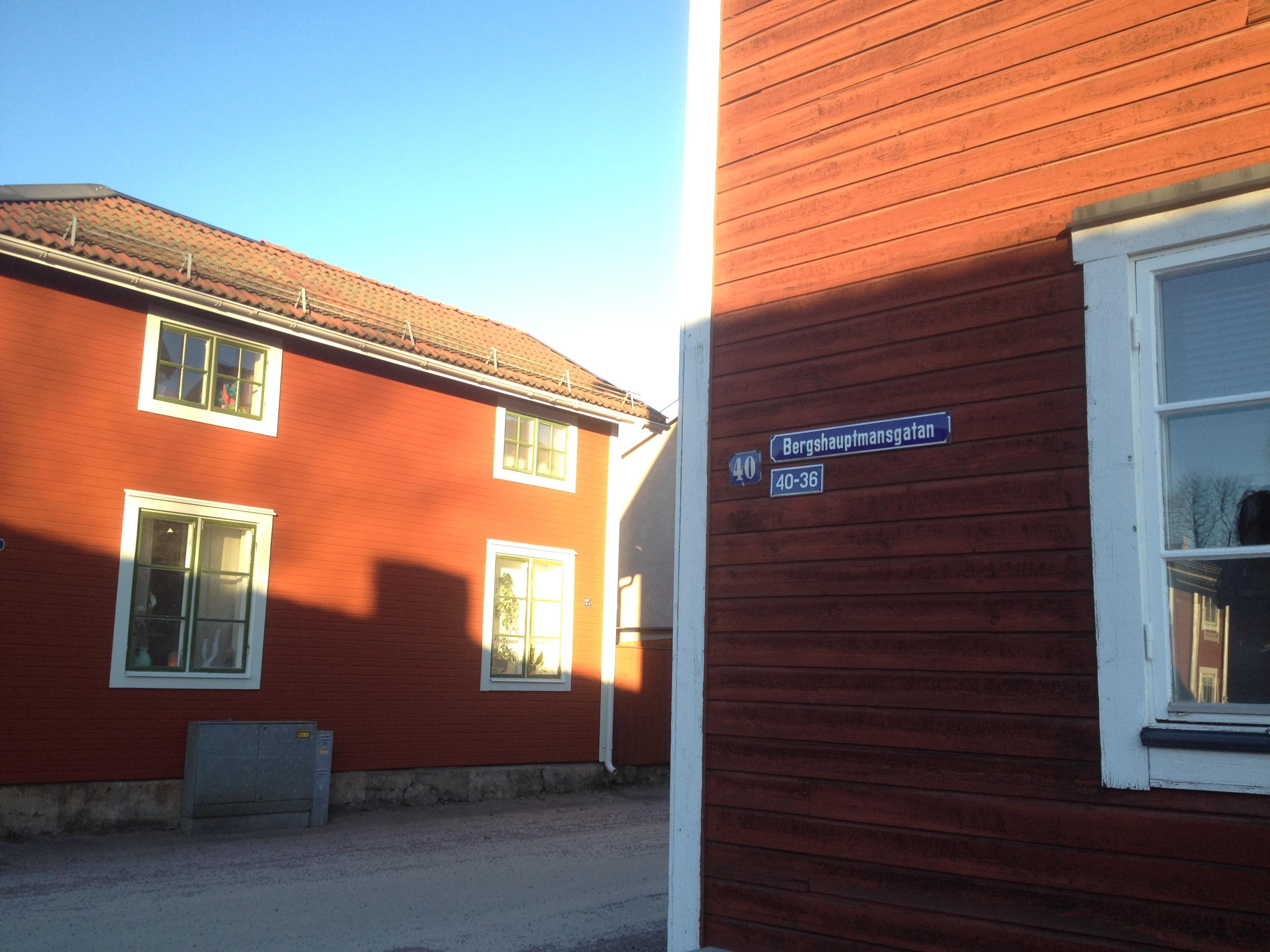 Bergshauptmansgatan i Falun