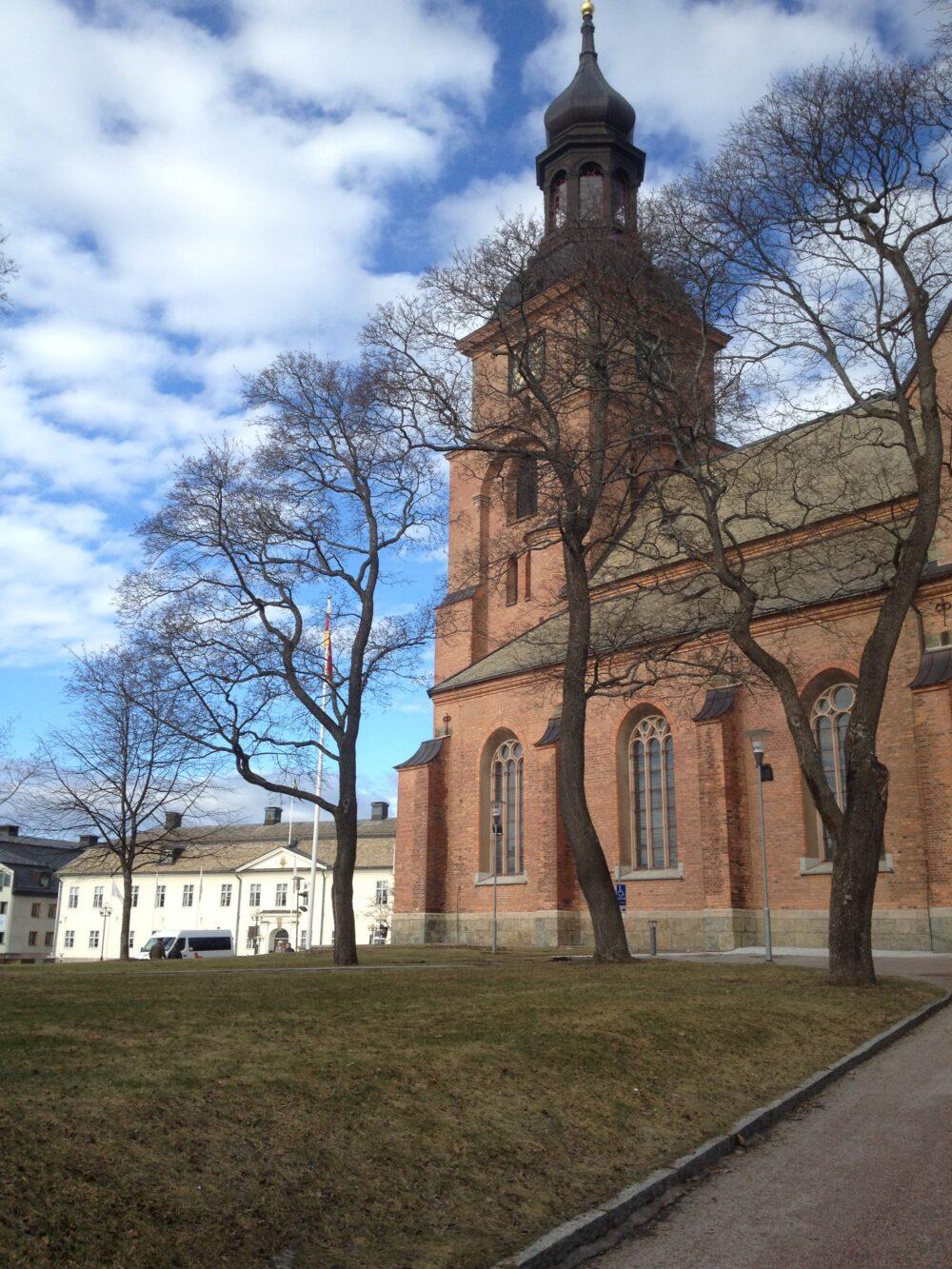 Rådhuset och kyrkan i Falun
