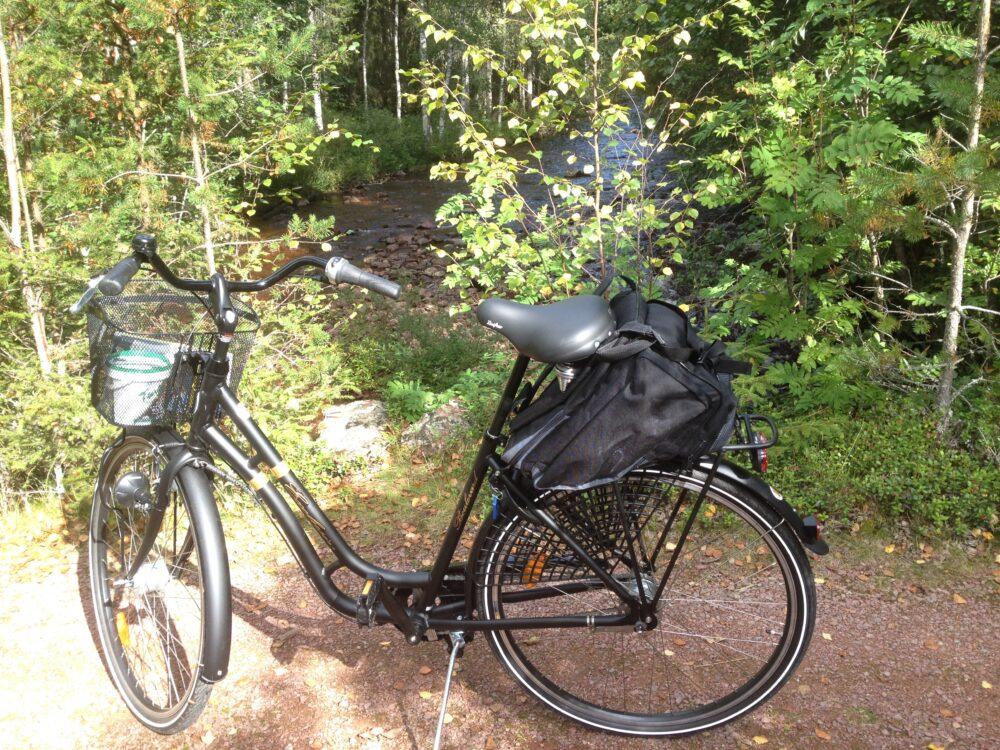 På Tre Björnar kan man hyra cykel.