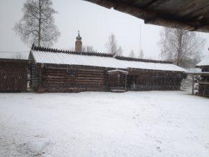 Bostadshus från Rämma Fäbodar. Huset är en sk enkelstuga med stuga, förstuga och kammare.