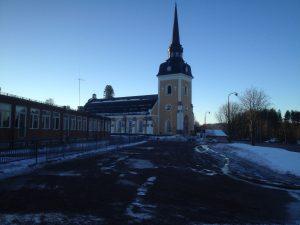 Norr om kyrkan låg förr Kaplansgården.