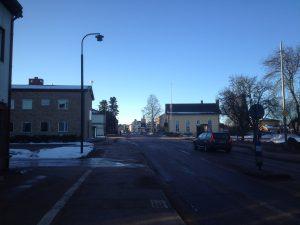 Vägen genom Älvdalen från norr.
