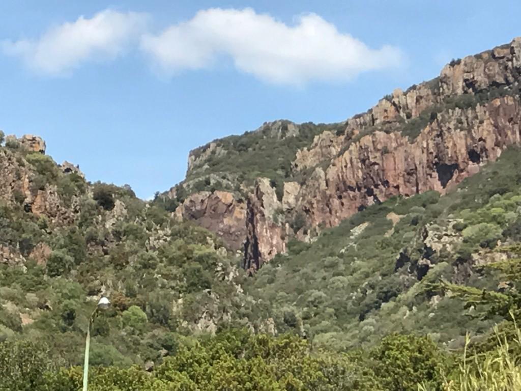 Fredag: Kustvägen Alghero-Bosa: 46 km Slingrande, nästan bilfria, aslfaltsvägar längs havet. Först massor av uppförsbackar - men rullningen ner till Bosa var obeskrivlig.
