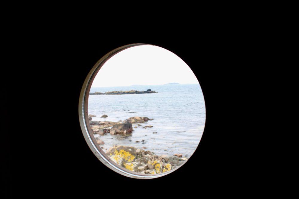 Torekov kallbadhus varmbadhus hav klippor