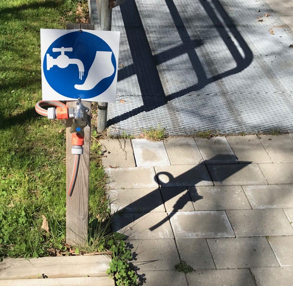 Skylt cykelvänlig