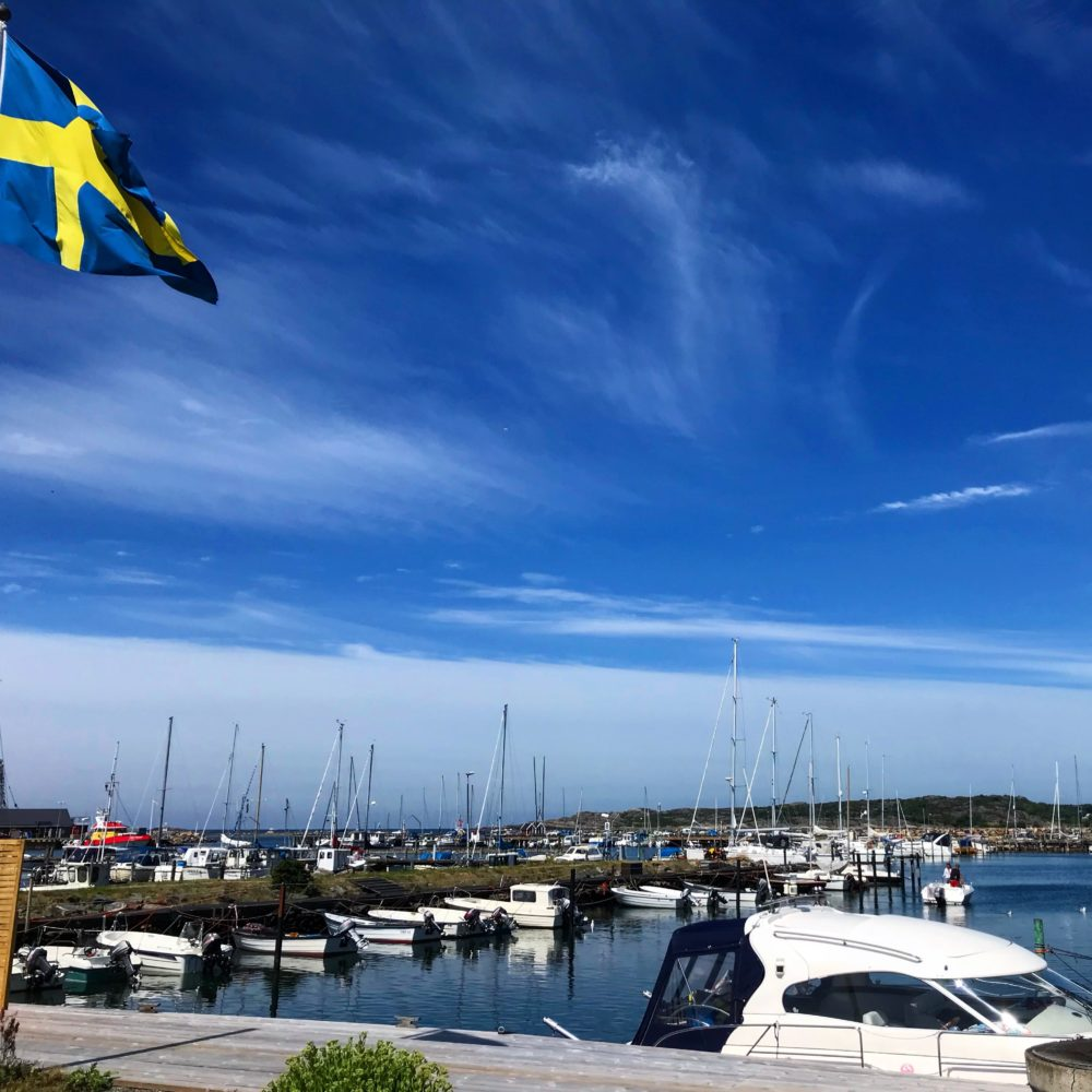 flagga båtar hamn kattegattleden